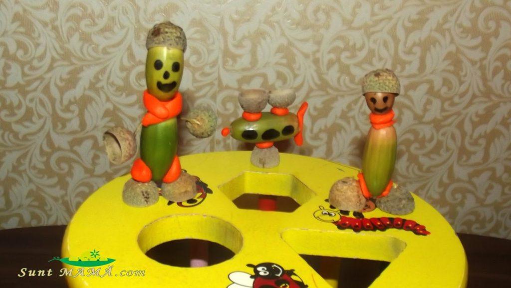 Decorațiuni handmade din ghinde