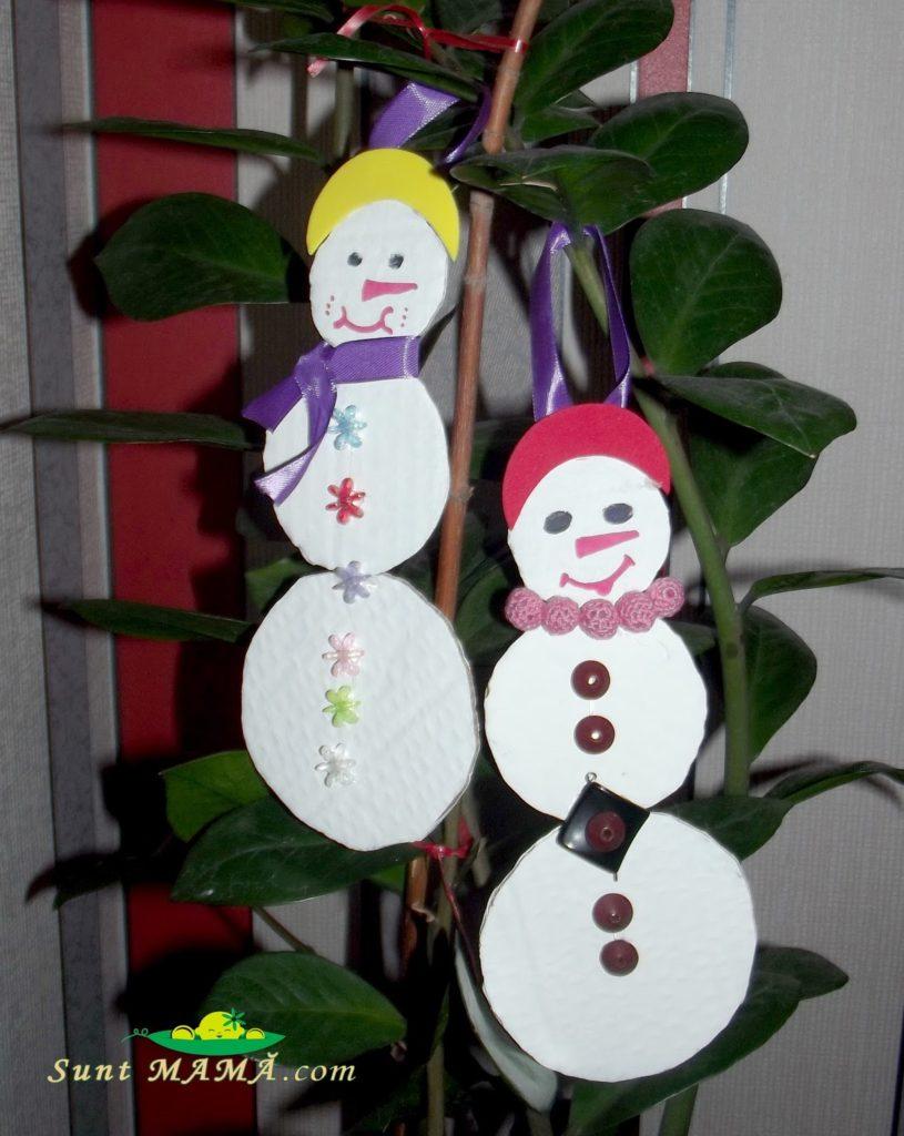 Oameni de zăpadă handmade