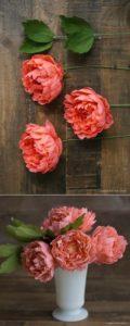 Flori handmade din hârtie colorată